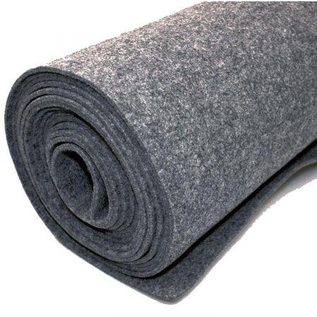 Vilt bekleed tapijt - Grijs - 200 x 500 cm